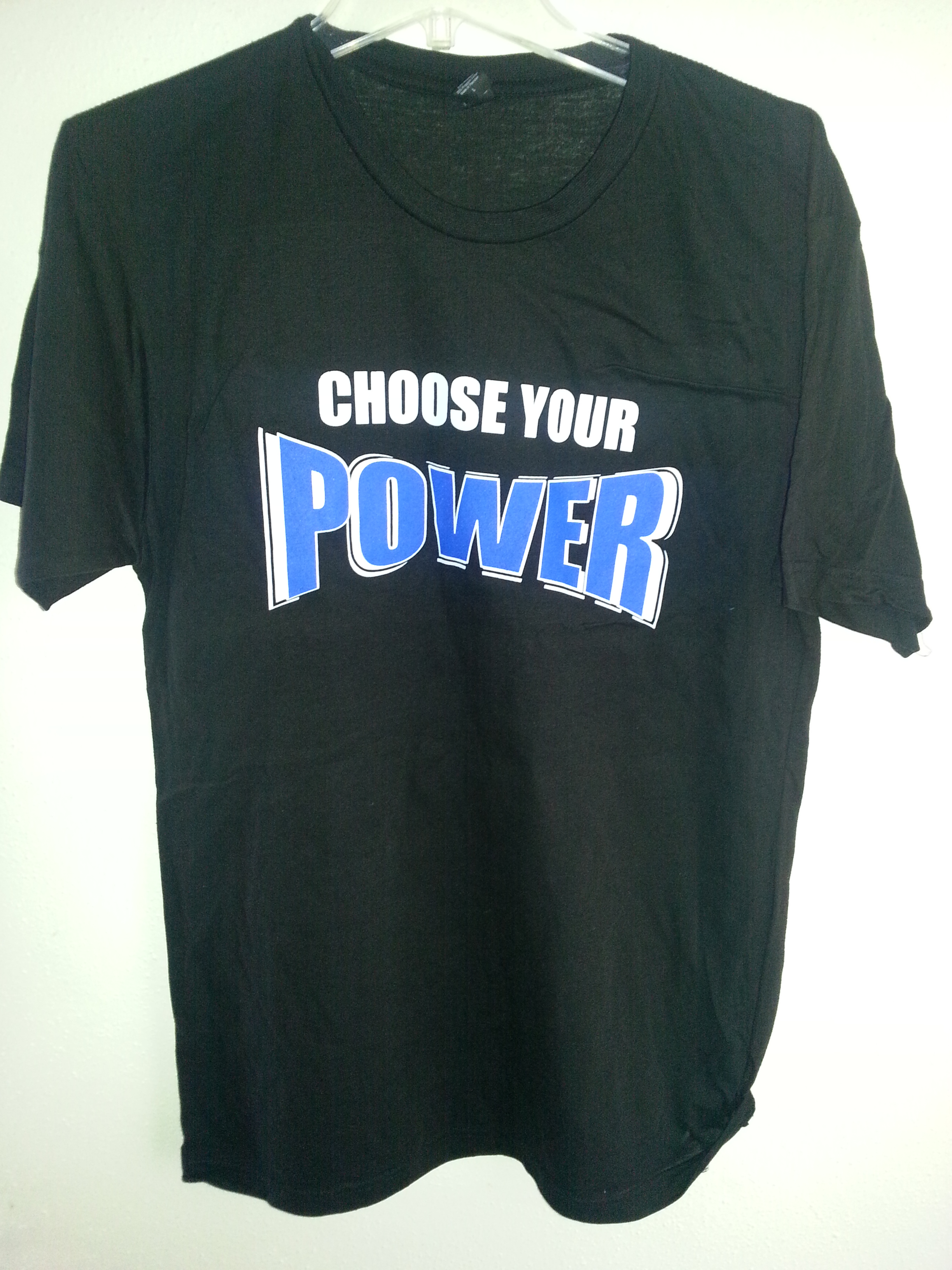 Custom Shirt Choose your Power BLue